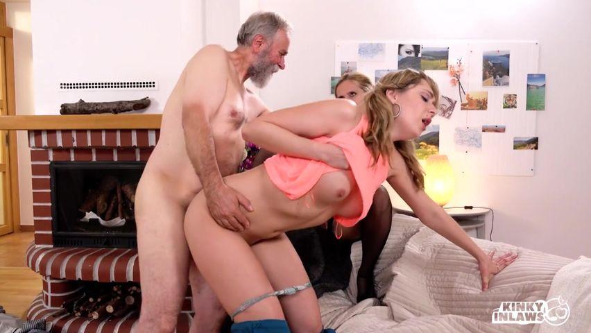 Порно старик трахает молодую фото