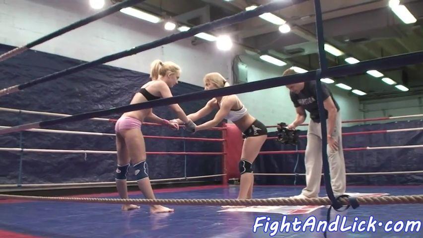 Порно в спорте на ринге