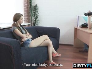 Мужик уговорил худую девку снятся в порно кастинге