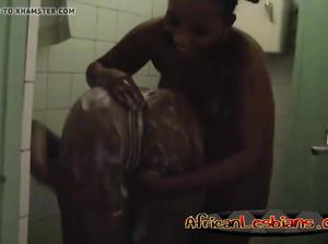 Две африканские самки занимаются однополым сексом