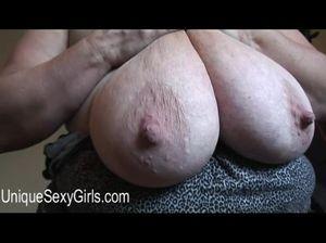 Большие сиськи с твердыми сосками жирной бабы
