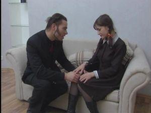 Милена Лисицина в русской лесби оргии с молоденькими студентками