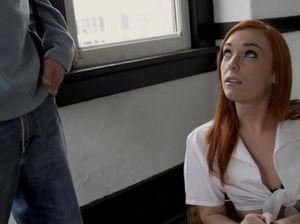 Рыжая худая студентка отдалась преподавателю на экзамене