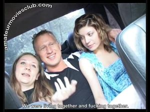 Русские девчонки сели в машину и занялись развратом с мужиком