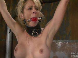 Похотливую блондинку жестко наказывает плеткой строгая госпожа