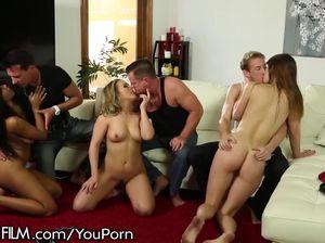Развратная секс вечеринка свингеров