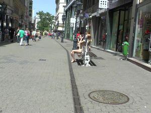 Феминистка в голом виде прогуливается по улицам города