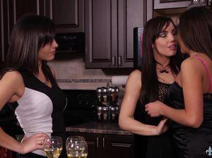 Пьяные подружки занялись страстным лесбийским сексом и выебали друг друга вибраторами