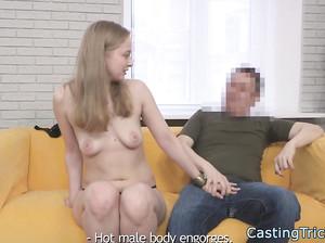 Порно кастинг для стройной модельки