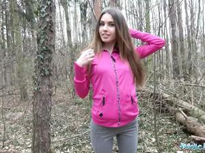 Инна за деньги трахается в лесу с новым знакомым