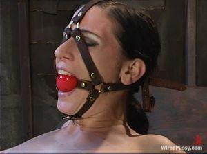 Госпожа связала свою рабыню и жестко выебала ее с помощью секс машины