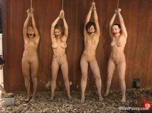 Госпожа лесби устроила групповые пытки для толпы девчонок