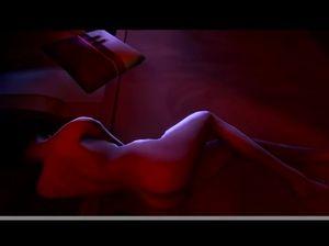 Неукротимый мужик дрочит  член над спящей мультяшной телочкой