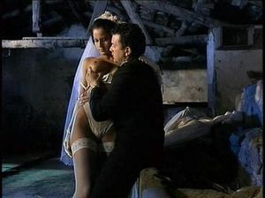 Мужик подглядывает, как жених трахает невесту в старом замке