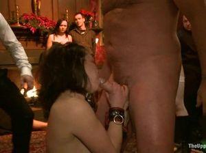 Приватная БДСМ-вечеринка со связыванием и пытками девушек
