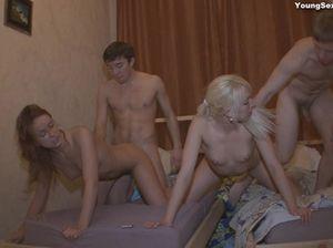 Русская молодёжь устроила настоящую оргию в квартире