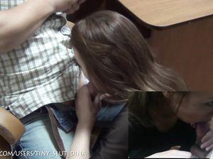 Инициативная русская девочка сосет дома член своего возлюбленного