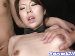 Ганг банг молодой японки и сперма в рот