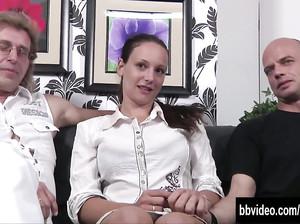 Трио с немкой и ее двумя хахалями